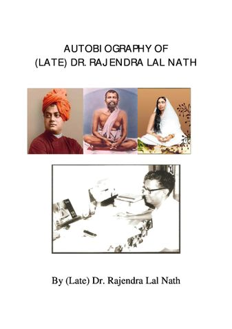 Autobiography of (Late) Dr. Rajendra Lal Nath