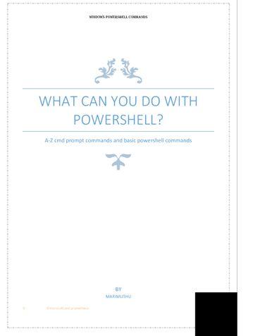 Basics with windows powershell(cmdlet)