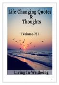 Life Changing Quotes & Thoughts (Volume 73)