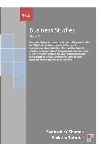 A guide to Business Studies