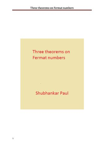 Three theorems on Fermat numbers