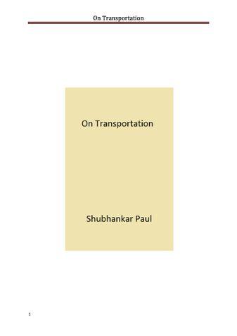 On Transportation