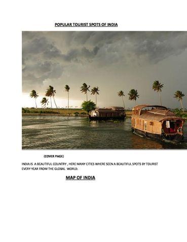 POPULAR TOURIST SPOTS OF INDIA