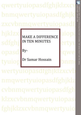 MAKE A DIFFERENCE IN TEN MINUTES