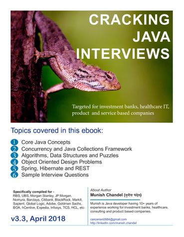 Cracking Java Interviews - Core Java 8, Algorithm, Data Structure, Concurrency, Hibernate and Spring Question Bank