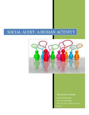 SOCIAL AUDIT: A HUMAN ACTIVITY