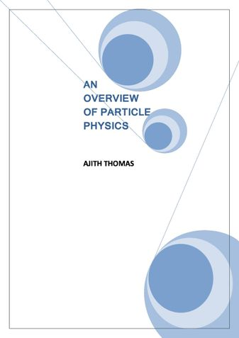 An Overview of Particle Physics.