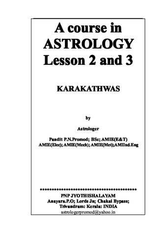 A COURSE IN ASTROLOGY. L 2 & 3