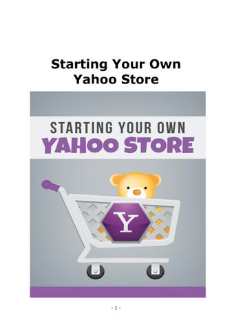 Start your own yahoo store