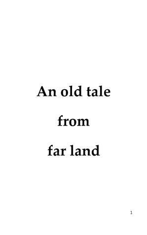 AN OLD TALE FROM FAR LAND