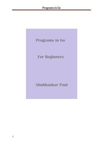 Programs in Go