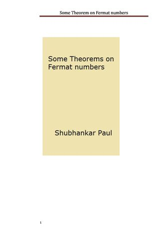 Some Theorem on Fermat numbers