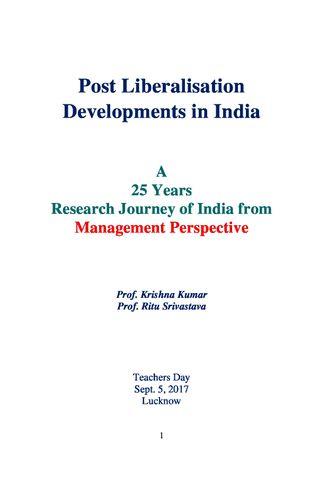 Post Liberalisation Developments in India Vol. I-V