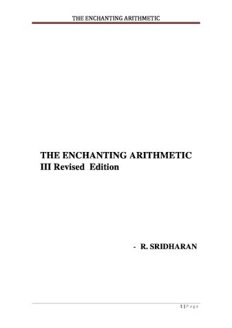 THE ENCHANTING ARITHMETIC
