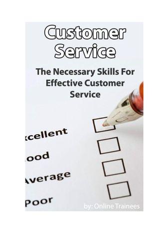 Customer Service Course - Necessary Skills For Effective Customer Service