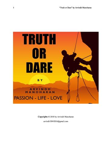 """""""Truth or Dare"""" by Arvindh Manoharan"""
