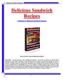 Delicious Sandwich Recipies