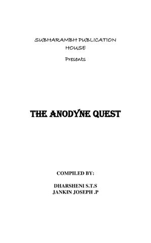 THE ANODYNE QUEST