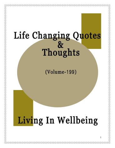 Life Changing Quotes & Thoughts (Volume 199)