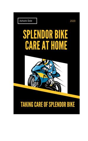 How to Care Splendor Bike at Home