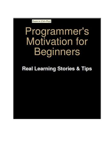 Programmer's Motivation for Beginners