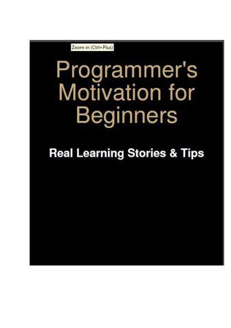 Programmer's Motivation for Beginners