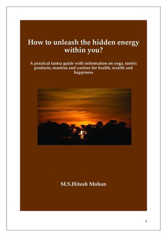 How to unleash the hidden energy within you?