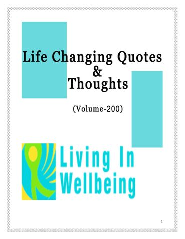 Life Changing Quotes & Thoughts (Volume 200)