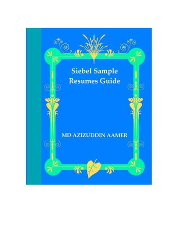 Siebel Sample Resumes Guide