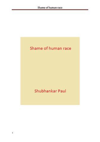 Shame of human race