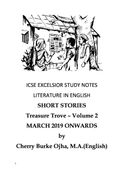 ICSE EXCELSIOR STUDY NOTES LITERATURE IN ENGLISH SHORT STORIES