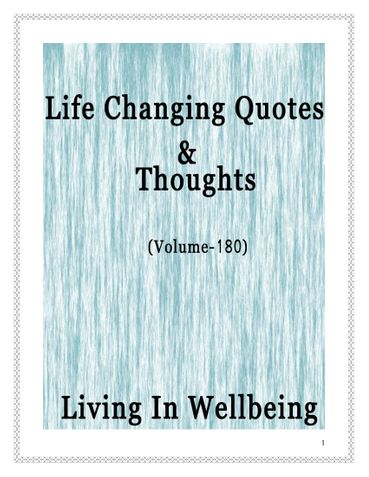 Life Changing Quotes & Thoughts (Volume 180)