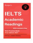 IELTS Academic Readings With Answers Key