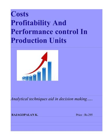 Costs, Profitability and Performance Control in Production Units