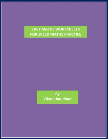 Easy Maths Worksheets Sample3