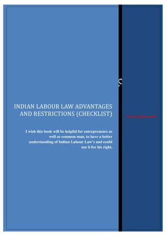 Indian Labor Law Advantages and Restrictions