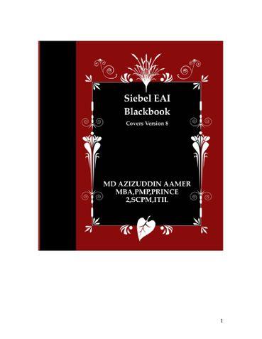 Siebel EAI Blackbook