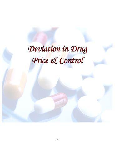 Deviation in Drug Price & Control
