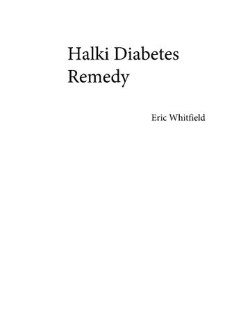 Halki Diabetes Remedy Review PDF eBook Book Free Download