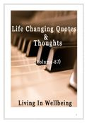 Life Changing Quotes & Thoughts (Volume 87)