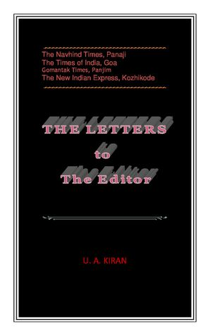 THE LETTERS to The Editor