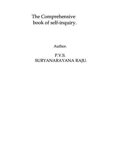 The comprehensive book on Self-Enquiry.