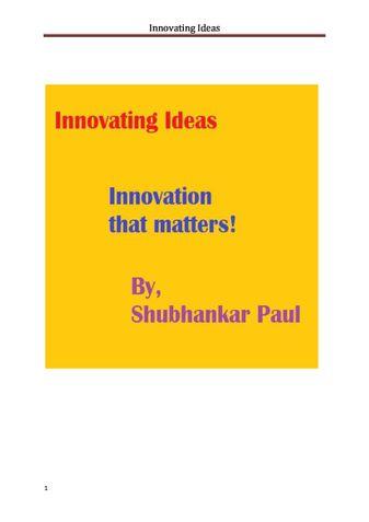 Innovating Ideas
