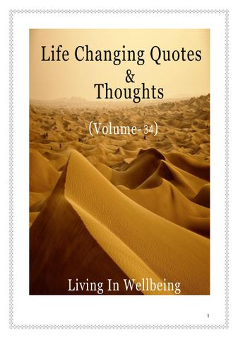 Life Changing Quotes & Thoughts (Volume 34)