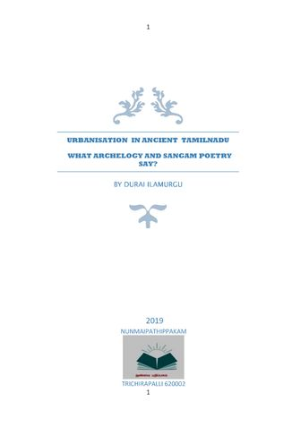 URBANISATION  IN ANCIENT  TAMILNADU