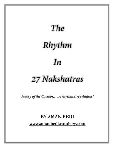 The Rhythm in 27 Nakshatras- Poetry of the Cosmos.. A rhythmic revelation