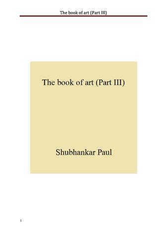 The book of art (Part III)