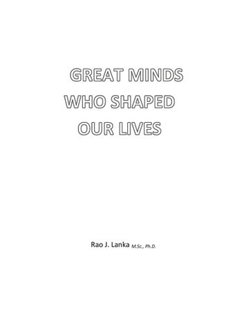 Great Minds Who Shaped Our Lives