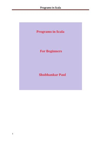 Programs in Scala