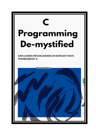 C Programming Demystified(Part 1)
